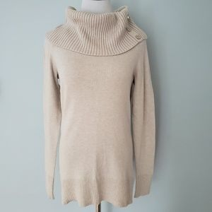 WHBM Cream Cowl Sweater